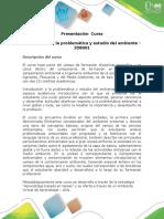 Presentación Del Curso Introducción a La Problemática y Estudio Del Ambiente - 358001