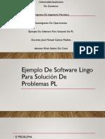 Ejemplo de Software Lingo Para Solución de Problemas