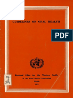 Guidelines on Oral Health Eng