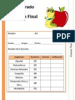 6to Grado - Examen Final Paz Mundial