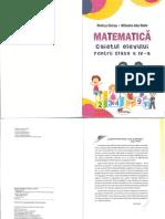 Caiet Matematica clasa IV ed Aramis Partial