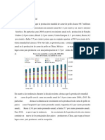 Producción mundial y mexicana de pollo proyección 2016