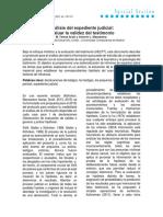 (s.f) Análisis Del Expediente Judicial. Evaluar La Validez Del Testimonio.