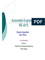 Automobile Engineering - Engine Operation and Valves