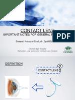 Lensa Kontak oleh Dr. Susanti Sp.M