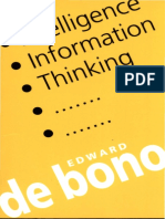 Edward De Bono Intelligence, Information, Thinking.pdf