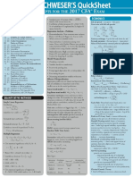 CFA 2017 Level 2 Schweser Quicksheet pdf