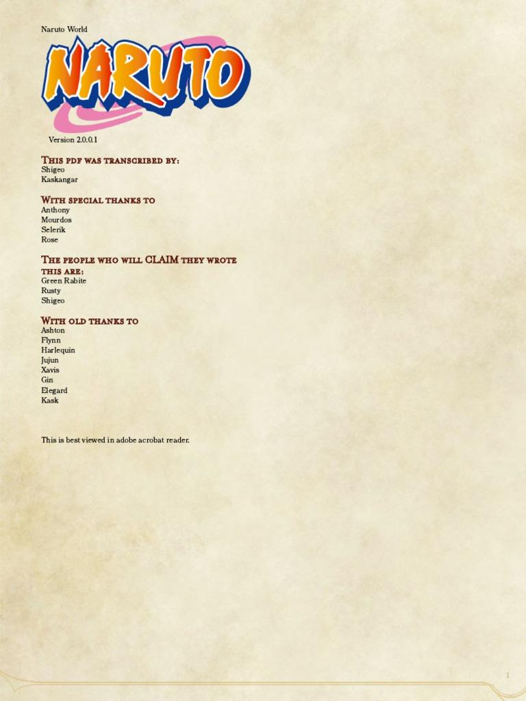 NarutoWorldDelta2001 pdf | Leisure