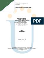 Diagnostico empresarial (SELECCION DE TECNOLOGIAS LIMPIAS)