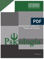 P13 Reclutamiento y Selección Técnica de Personal