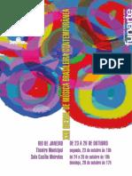 Catalogo XXII Biienal de Musica Brasileira Contemporanea