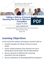 Taking a History of Sexual Health Makadon
