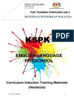 Preschool Cascade Training Handouts