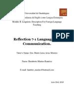 Reflection 7-1 Communicative Competence