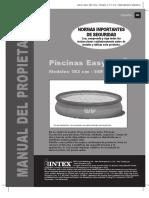 Manual Montaje Piscinas Intex Easy Set Circulares