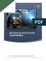 Metodos de Explotación Subterranea