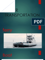 Water Transportation Ppt