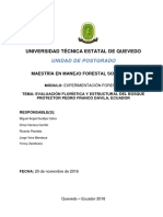 Evaluación Florística y Estructural del Bosque Pedro Franco Dávila