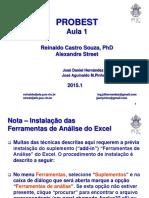Aula 1 - Probabilidade e Estatística (Reinaldo Souza)