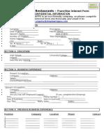 Sw Franchise Interest Form