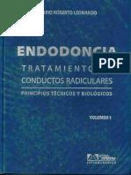 Endodoncia - Tratamiento de Conductos Radiculares Tomo 1 - Leonardo
