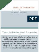 Tablas de Distribucion de Frecuencias