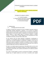 Instrumentos de Investigacion Cualitativas de Espacios Publicos