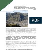 Desarrollo Histórico de La Región Huancavelica