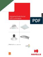 Havells LED Price List Mar 2016