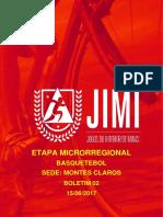 Boletim Basquetebol Montes Claros