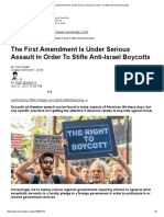 The First Amendment is Under Serious Assault in Order to Stifle Anti-Israel Boycotts