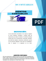 ASIENTOS CONTABLES DIAPOSITIVAS