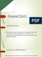 El Feminicidio Biologia