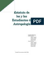 Estatutos de Los y Las Estudiantes La Carrera de Antropología.