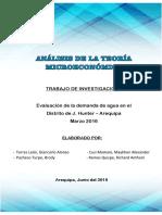 Analisis de La Teoria Microeconomica -Evaluacion Del Agua en J. Hunter AREQUIPA