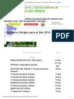 2016 Calendario Litúrgico