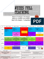 3 weeks full teaching