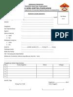 Formulir Pendaftaran Saka Wirakartika Pagelaran