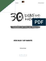 30 Días de Noche 01 - Rumores de Los No Muertos (Niles, Steve & Mariotte, Jeff)