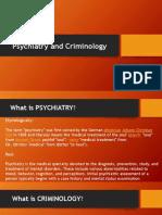 Criminal Psychiatry and Psychology