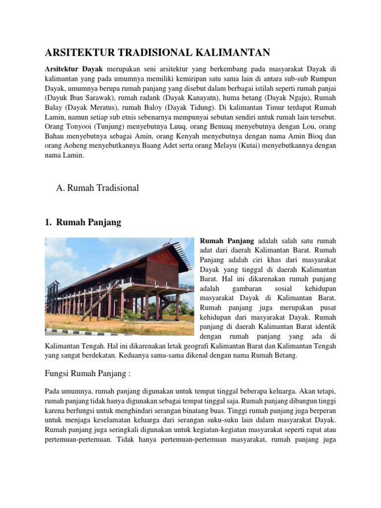 Arsitektur Tradisional Kalimantan