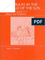 Gary H. Gossen. Chamulas in the World of the Sun. Time and Space in a Maya Oral Tradition-Waveland