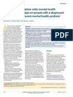 Impact of a Population-wide Mental Health Promotion Campaign on People With a Diagnosed Mental Illness or Recent Mental Health Problem