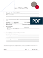 IELTS Application for the Issue of Additional TRFs