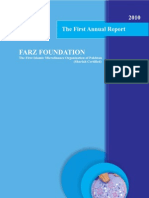 The First Annual Report of Farz Foundation