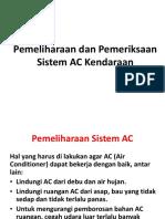 Pemeliharaan Dan Pemeriksaan AC Kendaraan