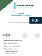 Lecture 2 Baseband Signal Transmission
