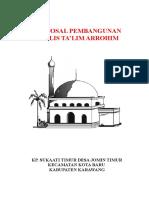 Proposal Pembangunan Majlis Talim Darussalam