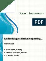 Epidemiology 1st Practical