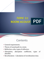 Topic 11 Room Acoustic
